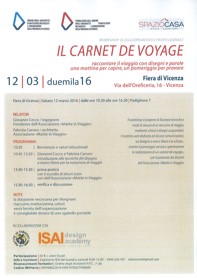 WORKSHOP VICENZA ISAI 12-03-2016